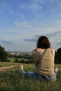 Sur la colline, à Hampstead Heath (Parliament Hill)