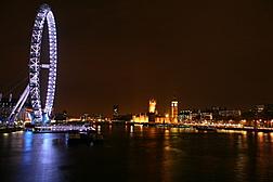 Sur le pont de Waterloo, de nuit